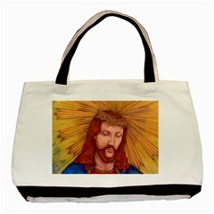 Sacred Heart Of Jesus Christ Drawing Basic Tote Bag (two Sides)  by KentChua