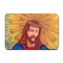 Sacred Heart Of Jesus Christ Drawing Small Doormat  by KentChua
