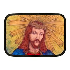 Sacred Heart Of Jesus Christ Drawing Netbook Case (medium)  by KentChua
