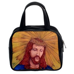 Sacred Heart Of Jesus Christ Drawing Classic Handbags (2 Sides) by KentChua