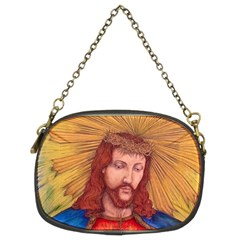 Sacred Heart Of Jesus Christ Drawing Chain Purses (two Sides)  by KentChua