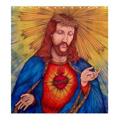 Sacred Heart Of Jesus Christ Drawing Shower Curtain 66  X 72  (large)  by KentChua