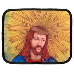 Sacred Heart Of Jesus Christ Drawing Netbook Case (xxl)  by KentChua