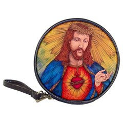 Sacred Heart Of Jesus Christ Drawing Classic 20 Cd Wallets by KentChua