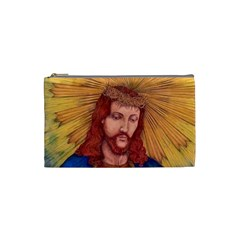 Sacred Heart Of Jesus Christ Drawing Cosmetic Bag (small)  by KentChua