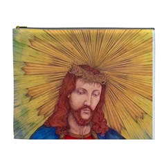 Sacred Heart Of Jesus Christ Drawing Cosmetic Bag (xl) by KentChua