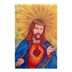 Sacred Heart Of Jesus Christ Drawing Shower Curtain 48  X 72  (small)  by KentChua