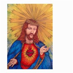 Sacred Heart Of Jesus Christ Drawing Small Garden Flag (two Sides) by KentChua