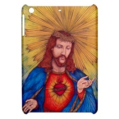 Sacred Heart Of Jesus Christ Drawing Apple Ipad Mini Hardshell Case by KentChua