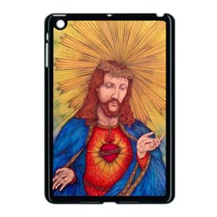 Sacred Heart Of Jesus Christ Drawing Apple Ipad Mini Case (black) by KentChua