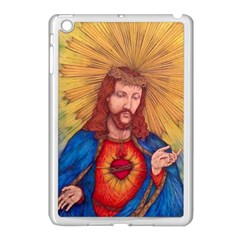 Sacred Heart Of Jesus Christ Drawing Apple Ipad Mini Case (white) by KentChua
