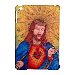 Sacred Heart Of Jesus Christ Drawing Apple Ipad Mini Hardshell Case (compatible With Smart Cover) by KentChua