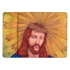 Sacred Heart Of Jesus Christ Drawing Samsung Galaxy Tab 10 1  P7500 Flip Case by KentChua