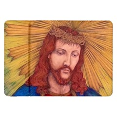 Sacred Heart Of Jesus Christ Drawing Samsung Galaxy Tab 8 9  P7300 Flip Case by KentChua