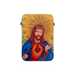 Sacred Heart Of Jesus Christ Drawing Apple Ipad Mini Protective Soft Cases by KentChua