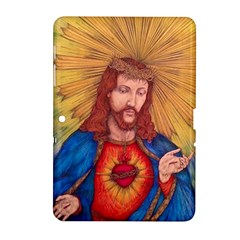 Sacred Heart Of Jesus Christ Drawing Samsung Galaxy Tab 2 (10 1 ) P5100 Hardshell Case  by KentChua