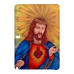 Sacred Heart Of Jesus Christ Drawing Samsung Galaxy Tab Pro 10 1 Hardshell Case by KentChua