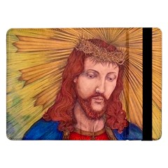 Sacred Heart Of Jesus Christ Drawing Samsung Galaxy Tab Pro 12 2  Flip Case by KentChua