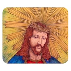 Sacred Heart Of Jesus Christ Drawing Double Sided Flano Blanket (small)  by KentChua