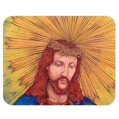 Sacred Heart Of Jesus Christ Drawing Double Sided Flano Blanket (medium)  by KentChua