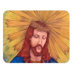 Sacred Heart Of Jesus Christ Drawing Double Sided Flano Blanket (large)  by KentChua