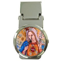 Immaculate Heart Of Virgin Mary Drawing Money Clip Watches by KentChua