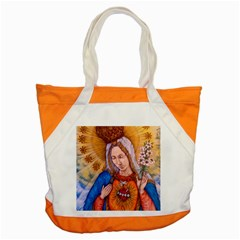 Immaculate Heart Of Virgin Mary Drawing Accent Tote Bag  by KentChua