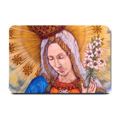 Immaculate Heart Of Virgin Mary Drawing Small Doormat  by KentChua