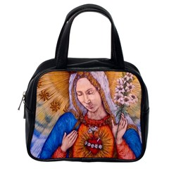 Immaculate Heart Of Virgin Mary Drawing Classic Handbags (one Side) by KentChua