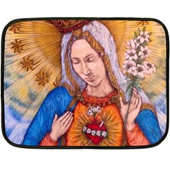 Immaculate Heart Of Virgin Mary Drawing Fleece Blanket (mini) by KentChua