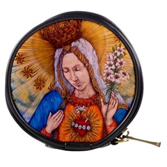 Immaculate Heart Of Virgin Mary Drawing Mini Makeup Bags by KentChua