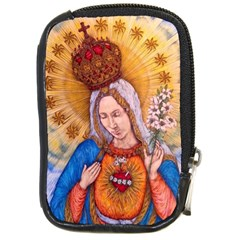 Immaculate Heart Of Virgin Mary Drawing Compact Camera Cases