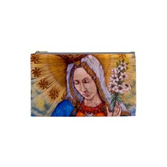 Immaculate Heart Of Virgin Mary Drawing Cosmetic Bag (small)  by KentChua