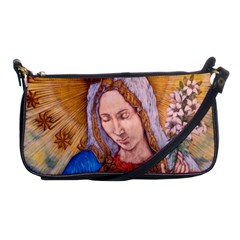 Immaculate Heart Of Virgin Mary Drawing Shoulder Clutch Bags by KentChua