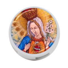 Immaculate Heart Of Virgin Mary Drawing 4 Port Usb Hub (two Sides)  by KentChua