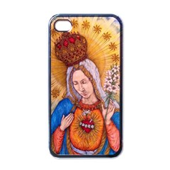 Immaculate Heart Of Virgin Mary Drawing Apple Iphone 4 Case (black) by KentChua