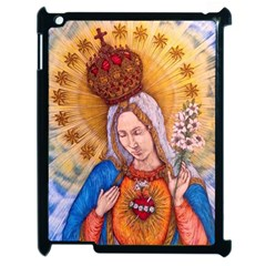Immaculate Heart Of Virgin Mary Drawing Apple Ipad 2 Case (black) by KentChua