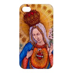 Immaculate Heart Of Virgin Mary Drawing Apple Iphone 4/4s Premium Hardshell Case by KentChua