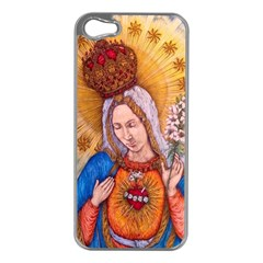 Immaculate Heart Of Virgin Mary Drawing Apple Iphone 5 Case (silver)