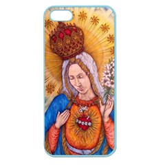 Immaculate Heart Of Virgin Mary Drawing Apple Seamless Iphone 5 Case (color) by KentChua