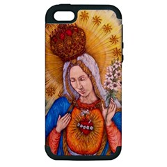Immaculate Heart Of Virgin Mary Drawing Apple Iphone 5 Hardshell Case (pc+silicone)