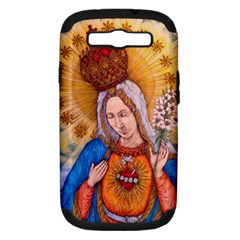 Immaculate Heart Of Virgin Mary Drawing Samsung Galaxy S Iii Hardshell Case (pc+silicone) by KentChua