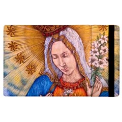 Immaculate Heart Of Virgin Mary Drawing Apple Ipad 2 Flip Case by KentChua