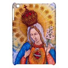 Immaculate Heart Of Virgin Mary Drawing Apple Ipad Mini Hardshell Case by KentChua
