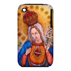 Immaculate Heart Of Virgin Mary Drawing Apple Iphone 3g/3gs Hardshell Case (pc+silicone) by KentChua
