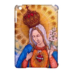 Immaculate Heart Of Virgin Mary Drawing Apple Ipad Mini Hardshell Case (compatible With Smart Cover) by KentChua