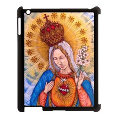 Immaculate Heart Of Virgin Mary Drawing Apple Ipad 3/4 Case (black) by KentChua