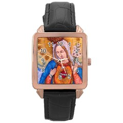 Immaculate Heart Of Virgin Mary Drawing Rose Gold Watches by KentChua