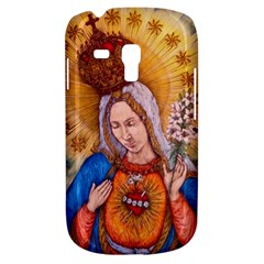 Immaculate Heart Of Virgin Mary Drawing Samsung Galaxy S3 Mini I8190 Hardshell Case by KentChua