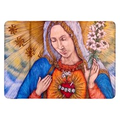 Immaculate Heart Of Virgin Mary Drawing Samsung Galaxy Tab 8 9  P7300 Flip Case by KentChua